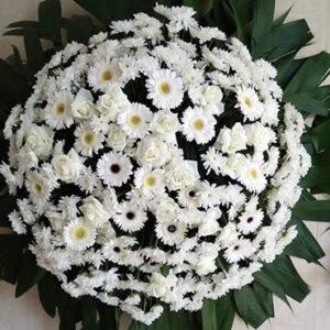 Coroa de Flores Simples Branca