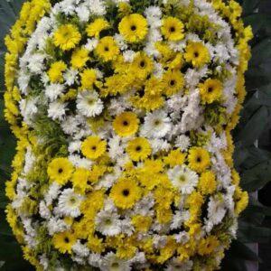 Coroa de Flores Dupla Amarela