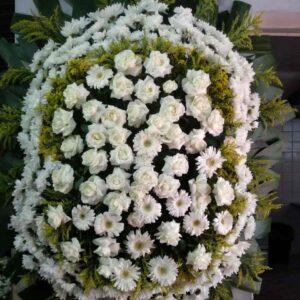 Coroa de Flores Dupla Branca