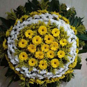 Coroa de Flores Simples Amarela