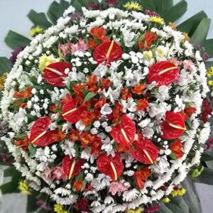 Coroa de Flores Padrão Multicor