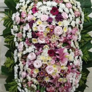 Coroa de Flores Dupla Rosa