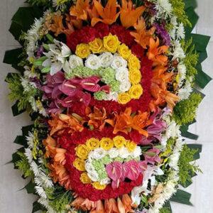 Coroa de Flores Dupla Mista 3