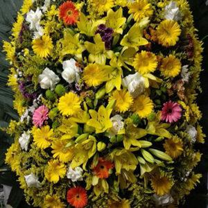 Coroa de Flores Dupla Amarela Mista