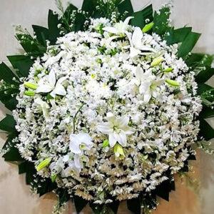 Coroa de Flores Luxo Orquídeas