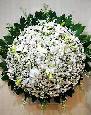 coroa de luxo orquidea